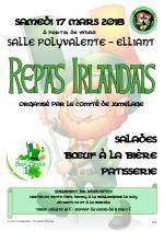 17 mars – Repas de la St Patrick