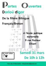 31 mars – Portes ouvertes des filières bilingues français-breton