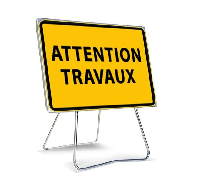 attention travaux