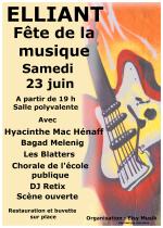 Fête de la musique le samedi 23 juin